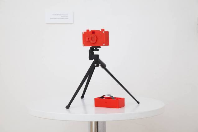 3D printed Red 35mm Pinhole Camera - Quentin Orhant & Sam Cornwell 2015