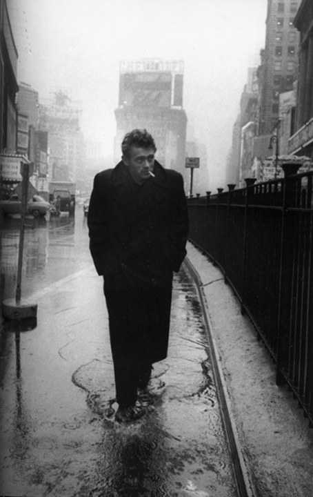 James Dean in Times Square by Dennis Stock, 1955.