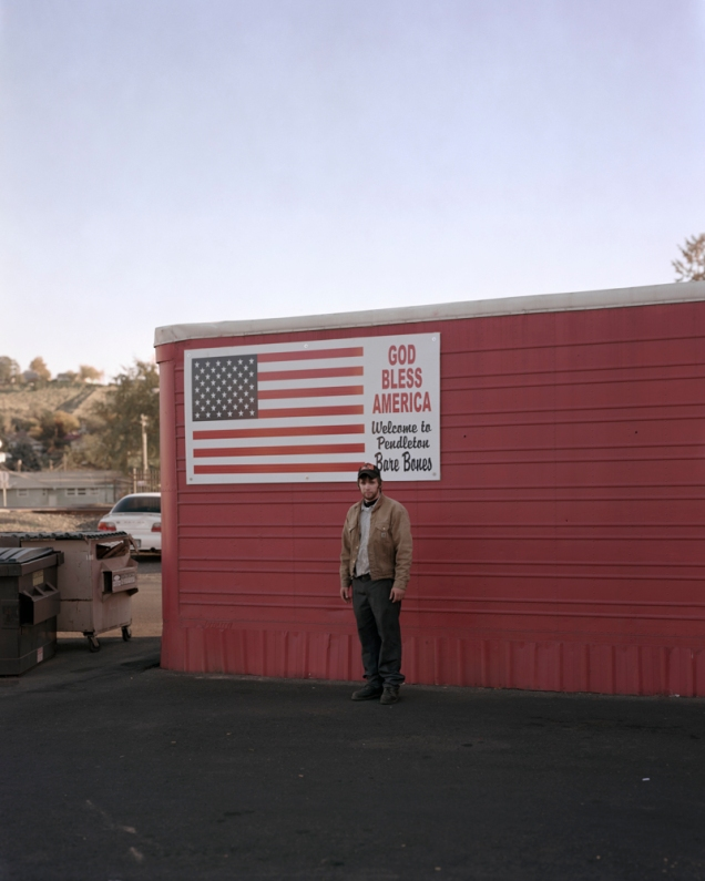 Mitch outside a liquor store in Pendleton Oregon. All images © Jack Latham/INSTITUTE