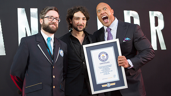 SanAndreas-Dwayne-Johnson-TheRock-selfies-record-headline_tcm25-379466