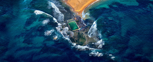 Mona Vale Rock Pool aerial by Ignacio Palacios