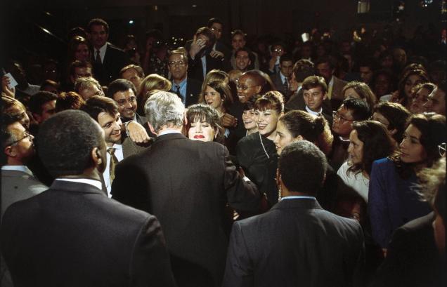 Clinton & Lewinsky Embrace, 1996 - AP