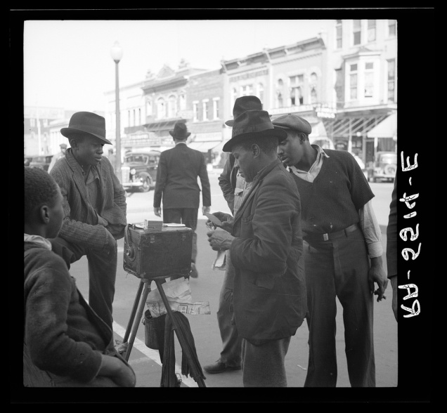Street photographer. Smithfield, North Carolina. Arthur Rothstein, October 1936.