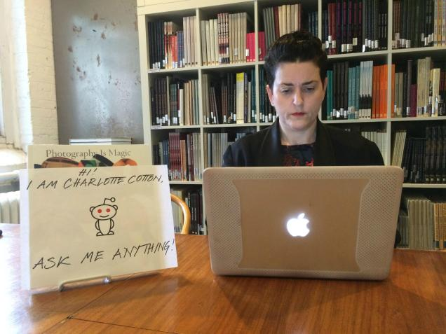 Charlotte Cotton's Reddit AMA proof pic.