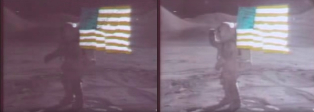 side by side Apollo15 video